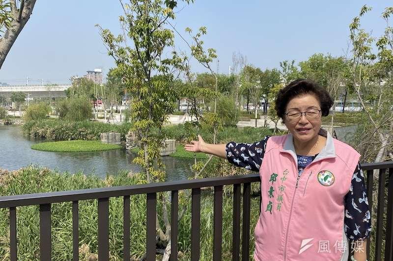 台中市議員邱素貞建議儲備地下水資源,以備不時之需,也可減少水資源浪費。(圖/記者王秀禾攝)
