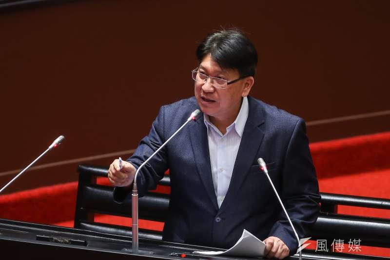 20210316-國民黨立委林思銘16日於立院質詢。(顏麟宇攝)