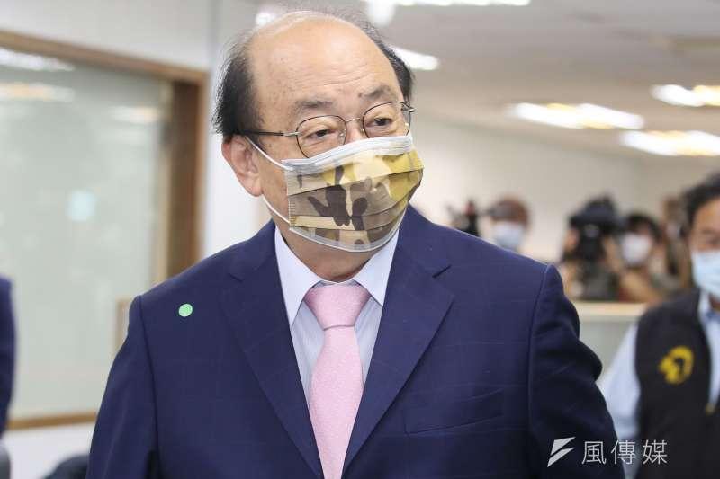 民進黨立法院黨團總召柯建銘表示,感謝國際友人對台灣的支持,呼籲在野黨停止對疫苗的抹黑攻擊。(資料照,柯承惠攝)