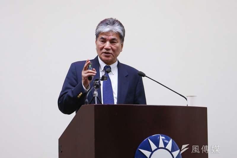 20210317-台大土木工程學系教授李鴻源17日至國民黨中常會,針對水資源議題專題講演。(顏麟宇攝)