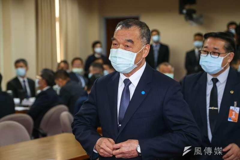 國防部長邱國正(見圖)強調,從不做防守幾天的設定,中共要打幾天,「國軍就奉陪幾天。」(顏麟宇攝)