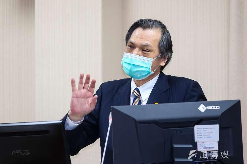 國安局長陳明通18日於立法院外交國防委員會備詢。(顏麟宇攝)
