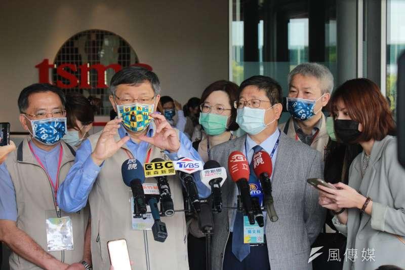 台北市長柯文哲20日率北市府團隊赴新竹縣參加市政交流活動。(方炳超攝)