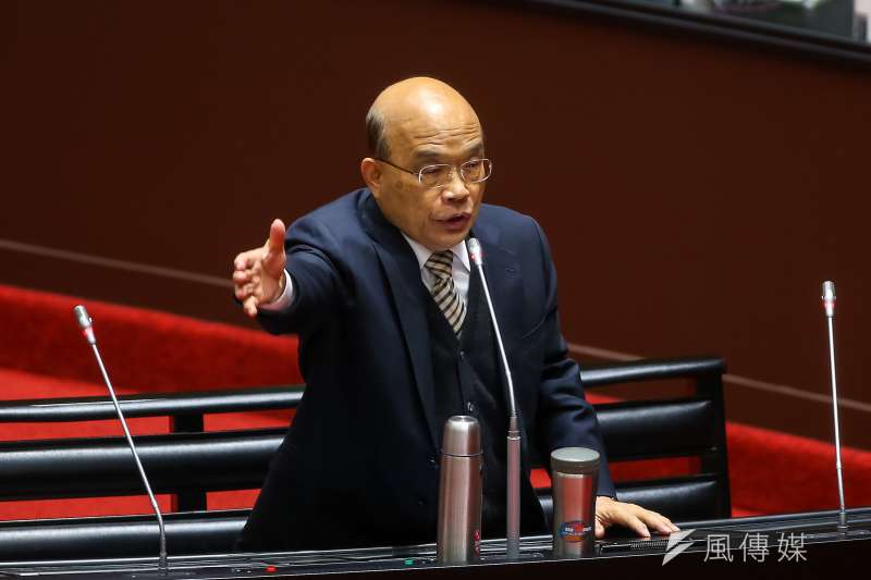 近蘇人士表示,蘇貞昌對於8月公投結果將對蘇內閣有重大影響是心知肚明的。(資料照,顏麟宇攝)