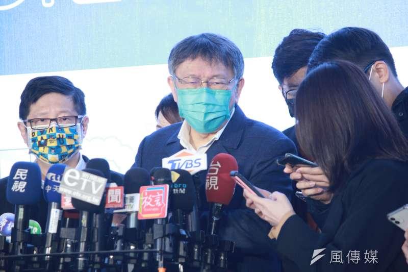 台北市長柯文哲24日出席明倫設計新創基地D.Lab啟用活動。(方炳超攝)