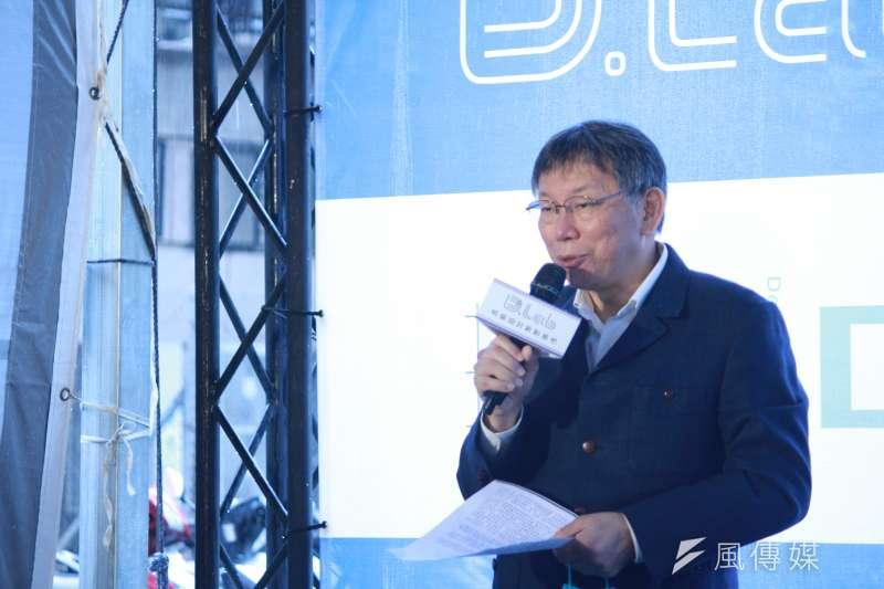 台北市政府發言人陳智菡表示,若確定開放、不會占用醫護人員資源,台北市長柯文哲(見圖)願意施打新冠疫苗。(資料照,方炳超攝)