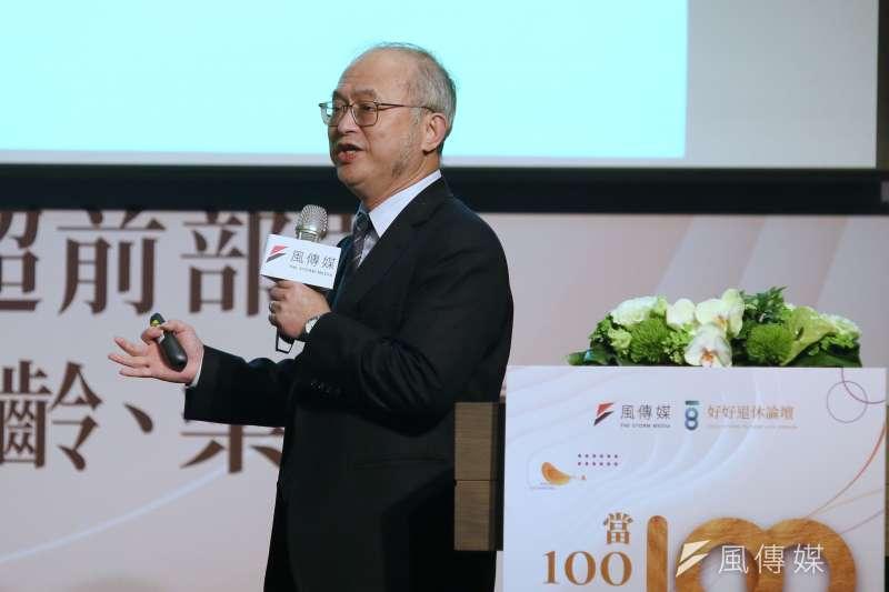 風傳媒25日舉行好好退休論壇,台大醫院院長吳明賢出席演講。(柯承惠攝)