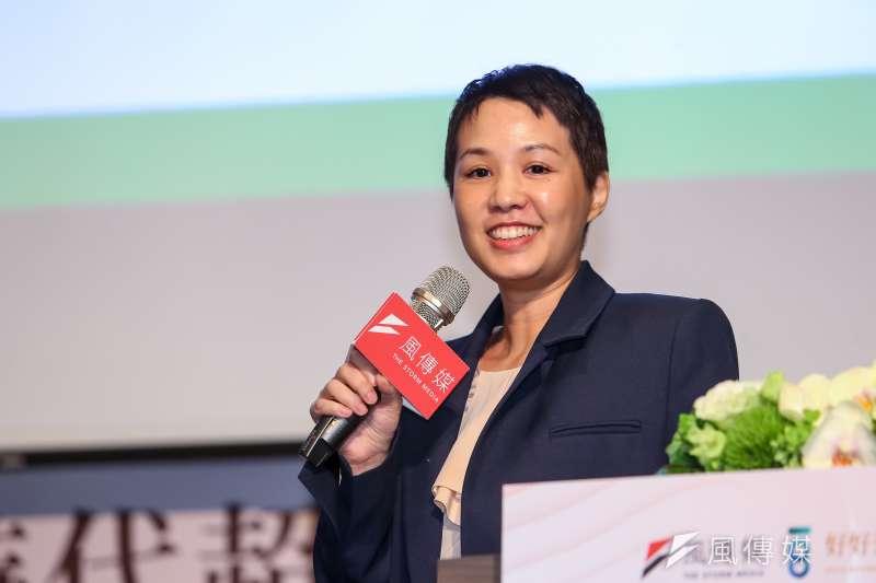 永豐餘生技總經理何奕佳25日出席風傳媒舉辦「好好退休論壇」。(顏麟宇攝)