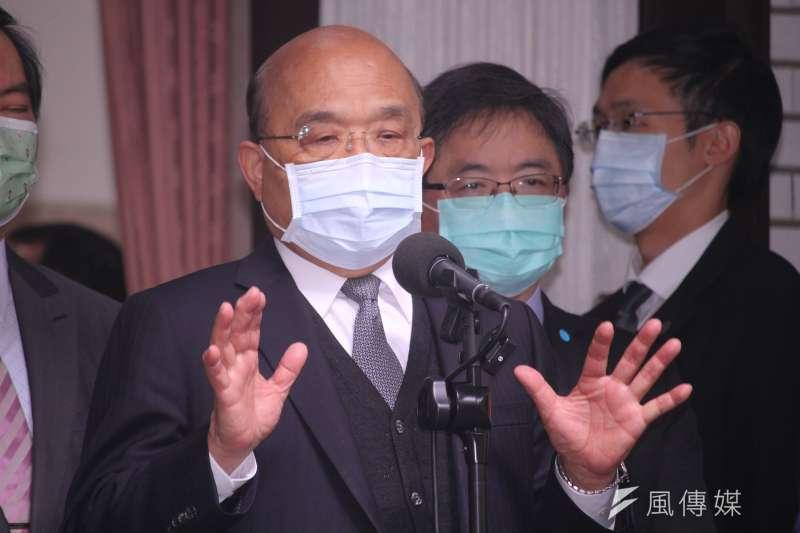 蘇貞昌從5日太魯閣號事故之後,就沒再接受媒體訪問。(資料照,蔡親傑攝)