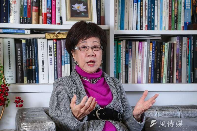 前副總統呂秀蓮(見圖)於新書《兩岸恩怨如何了》中指出,中共對台動武已形成「完美風暴」。(資料照,顏麟宇攝)