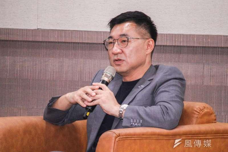 20210329-國民黨主席江啟臣29日舉行新書發表會。(蔡親傑攝)