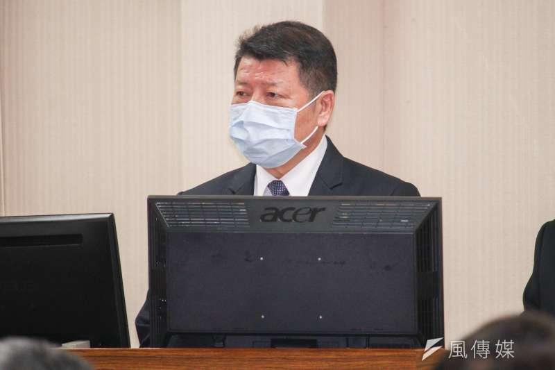 20210329-國防部副部長張哲平上將出席立院國防委員會備詢。(蔡親傑攝)