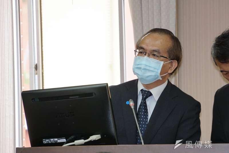 交通部次長陳彥伯指出,最近事故增高的原因多來自高齡駕駛、青年朋友以及外送員。(盧逸峰攝)