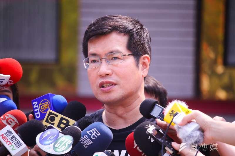 20210329-立委羅致政召開「拒絕新疆血棉花、力挺人權與自由」記者會。(蔡親傑攝)