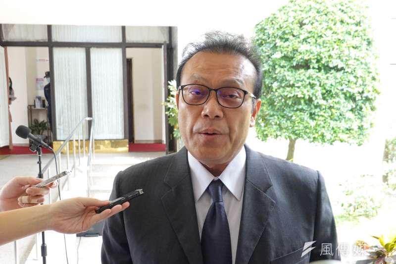 無黨籍立委蘇震清30日於立院接受媒體聯訪。(顏麟宇攝)
