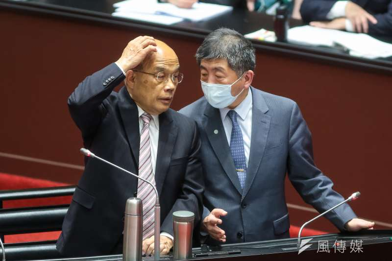 20210330-行政院長蘇貞昌、衛福部長陳時中30日於立院備詢。(顏麟宇攝)