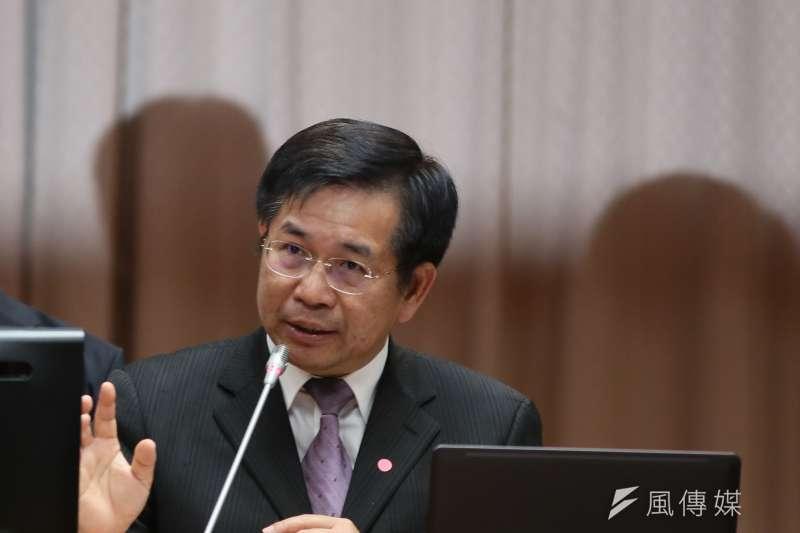 教育部長潘文忠31日列席教育及文化委員會會備詢。(柯承惠攝)