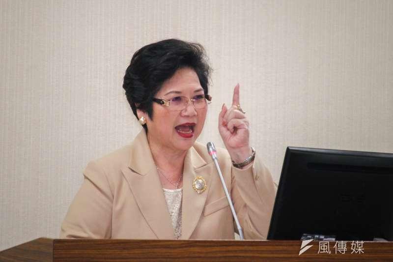 國民黨立委溫玉霞立院助理篩檢陽性,溫玉霞表示會落實自主健康管理。(資料照,蔡親傑攝)