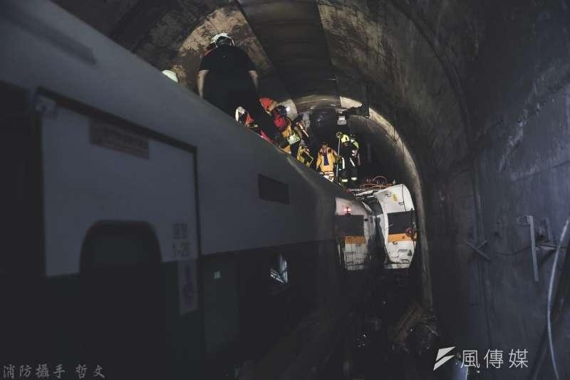 太魯閣號列車事故罹難者身份全數確定,花蓮檢調單位已完成屍塊、組織DNA比對,確定身份成謎的「50號罹難者」其實是其他49位罹難者遺骸。(資料照,取自花蓮縣消防局)