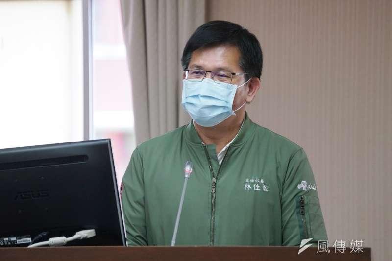 台鐵太魯閣號發生重大事故,交通部長林佳龍7日赴立法院交通委員會備詢。(盧逸峰攝)
