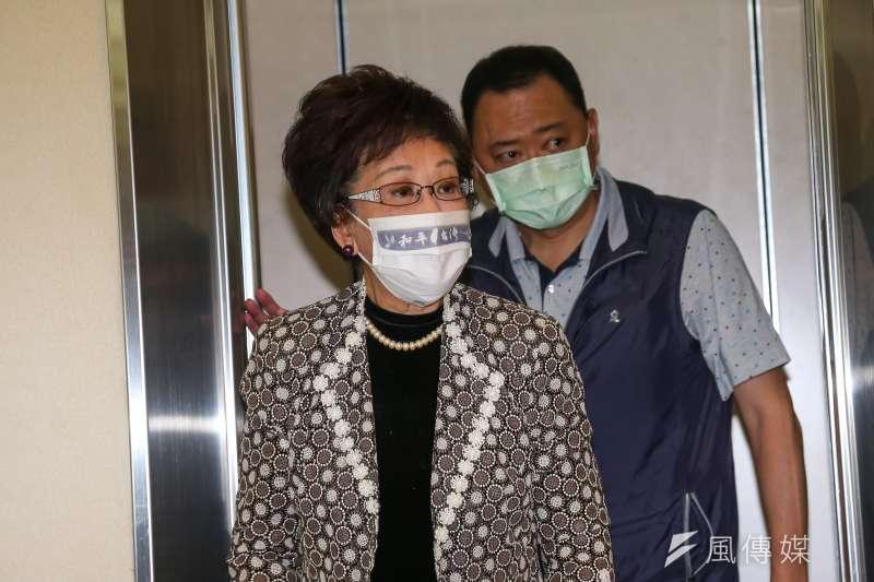 前副總統呂秀蓮認為,民進黨中央應調查黨員接種國產疫苗的意願,以了解民意。(資料照,顏麟宇攝)