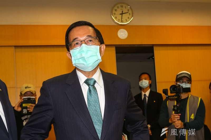 前交通部長林佳龍1日接受前總統陳水扁(見圖)廣播節目專訪。(資料照,顏麟宇攝)