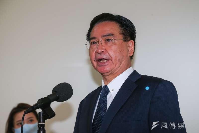 20210408-外交部長吳釗燮8日於立院接受媒體聯訪。(顏麟宇攝)