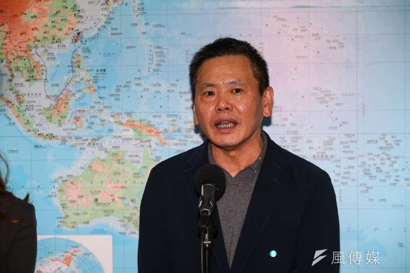 20210408-國民黨立委林為洲8日於立院接受媒體聯訪。(顏麟宇攝)