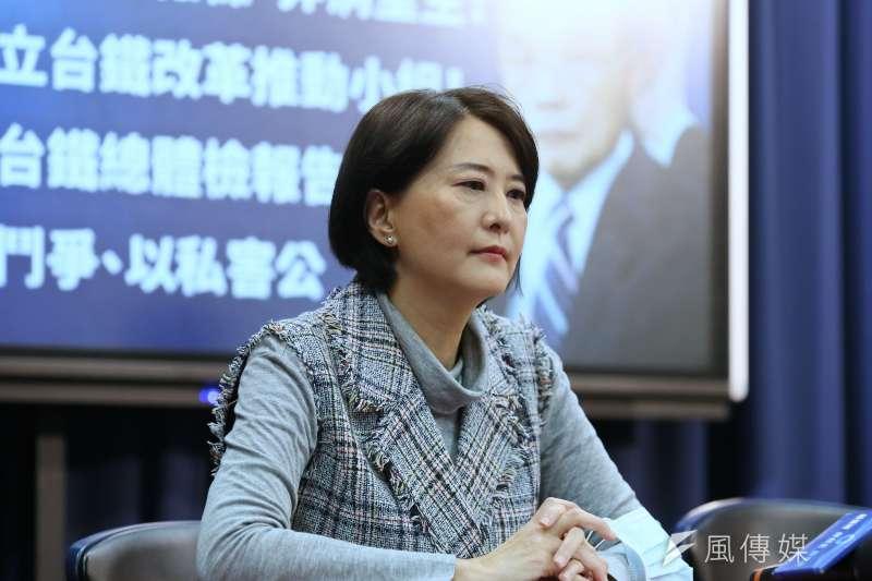 王鴻薇批判促轉會說延任就延任,根本就是被當成政治提款機。(資料照,柯承惠攝)