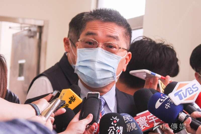 徐國勇(圖)聲稱去年12月受邀參加趙文寬舉辦的80大壽,與現場許多民眾合照,趙介佑只是其中之一。(資料照,蔡親傑攝)