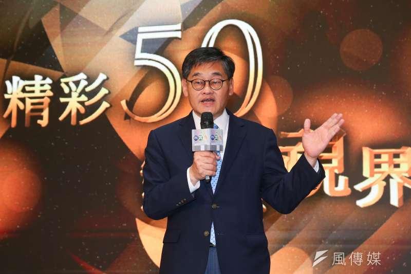 華開台50周年準備進駐有線52台。圖為視總經理莊豐嘉出席「華視50週年台慶」開跑記者會。(顏麟宇攝)