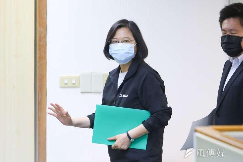 20210414-總統蔡英文14日出席民進黨中常會。(顏麟宇攝)
