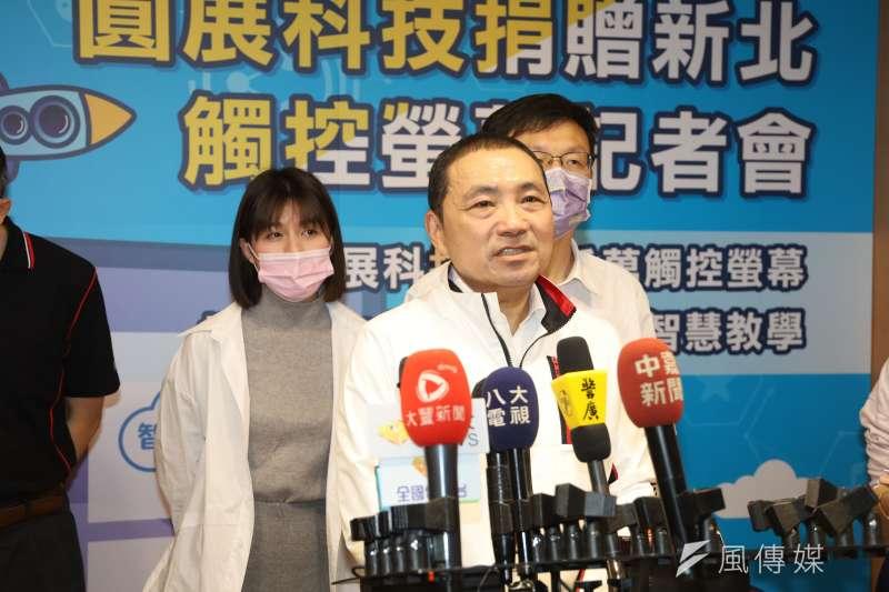 新北市長侯友宜表示,日本核廢水擴散到公海若流到台灣,對台灣是不好而且是不公平的,盼政府勇於表態,堅決表達立場。(圖/李梅瑛)
