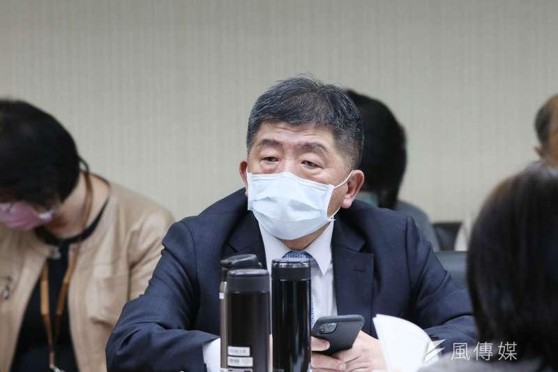 陳時中23日說明2本土武漢肺炎確診個案。(資料照,柯承惠攝)