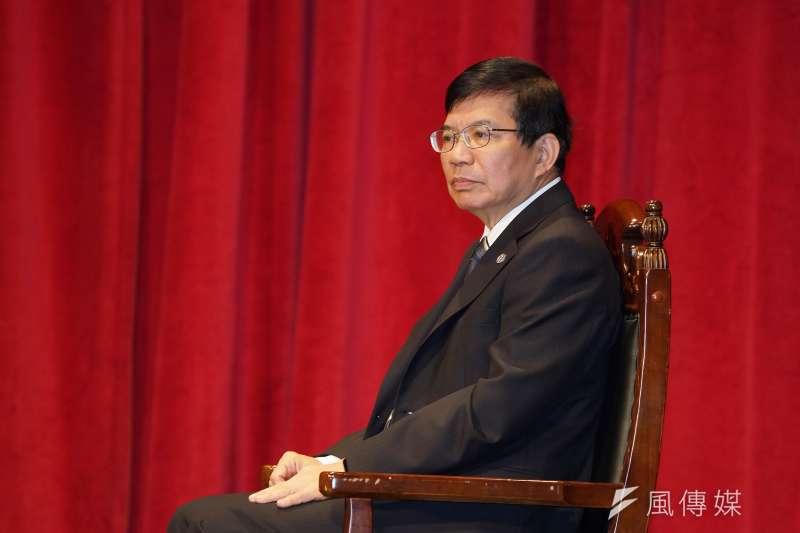 交通部長王國材20日出席部長交接典禮。(盧逸峰攝)