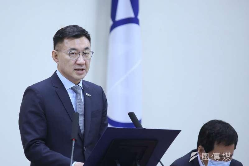 國民黨主席江啓臣發文表示,疫情升溫,在野黨應該建言多過批評,團結抗疫。(柯承惠攝)