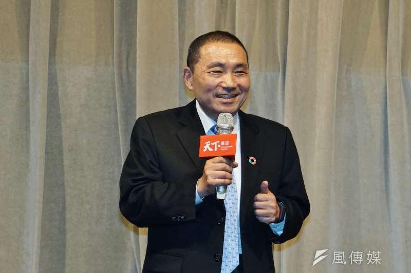 新北市長侯友宜22日出席「如何避免氣候災難行動論壇」演講。(盧逸峰攝)