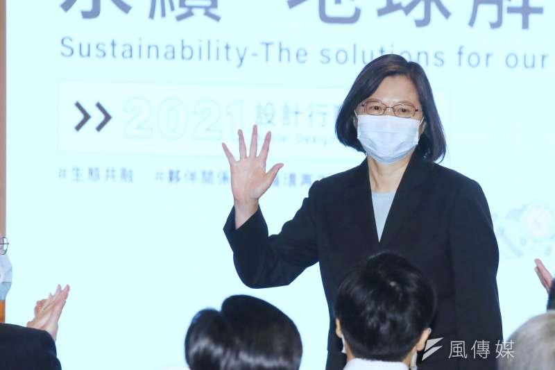 蔡英文22日宣示,台灣淨零轉型已是現在進行式,且要邁向2050淨零碳排的目標。(資料照,柯承惠攝)