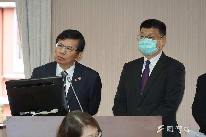 20210422-交通部長王國材、台鐵局長杜微22日於交通委員會備詢。(盧逸峰攝)
