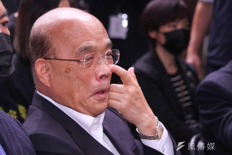 《美麗島電子報》董事長吳子嘉直言,行政院長蘇貞昌(見圖)的知識不足,才造成現在的疫苗危機,「台灣今天的處境就是飯桶的結果」。(資料照,蔡親傑攝)