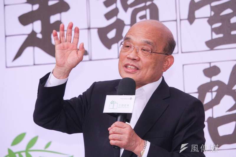 吳子嘉大膽預言,民進黨就算公投全面崩盤,行政院長蘇貞昌(見圖)也不會請辭,等到2022年民進黨選舉大敗,非離開不可才會下台。(資料照,蔡親傑攝)