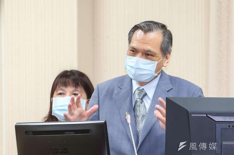 20210426-國安局長陳明通26日於外交國防委員會備詢。(顏麟宇攝)