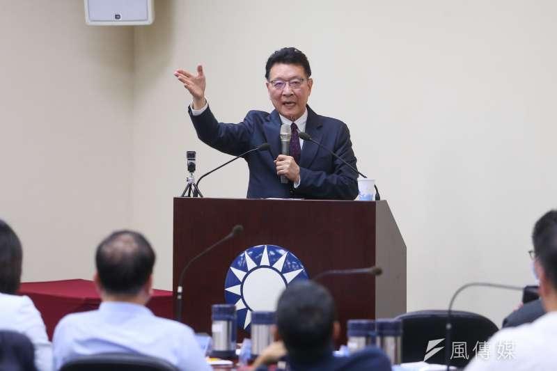 中廣董事長趙少康好奇會有多少人要去打高端疫苗,「有多少義和團真的相信可以刀槍不入?」(資料照,顏麟宇攝)