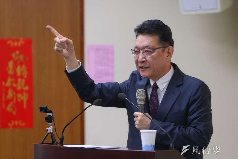 20210428-中廣董事長趙少康28日至國民黨中常會專題講演「和平、奮鬥、救台灣」。(顏麟宇攝)