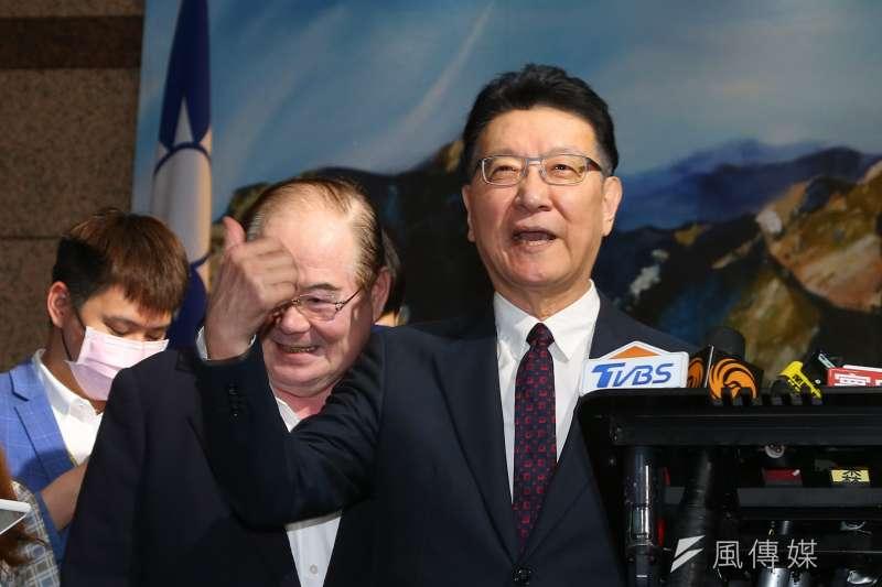 中廣董事長趙少康在國民黨中常會專題講演「和平、奮鬥、救台灣」。(顏麟宇攝)