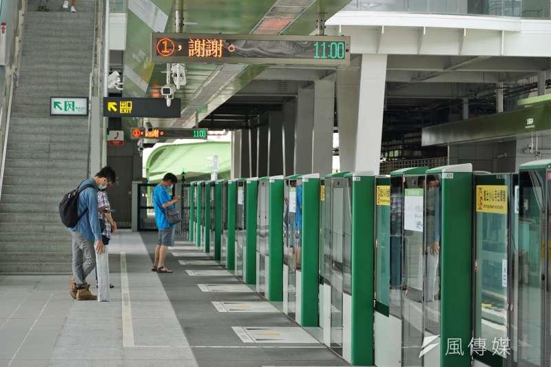 台中捷運站上月底正式通車,但運量至今仍持續低迷。(資料照,盧逸峰攝)