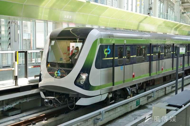 20210429-台中捷運列車。(盧逸峰攝)