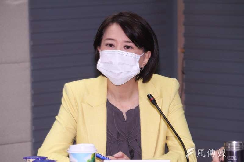 20210429-國民黨智庫召開「新冠肺炎疫苗發展的瓶頸及解決之道」座談會,圖為北市議員王鴻薇出席。(蔡親傑攝)