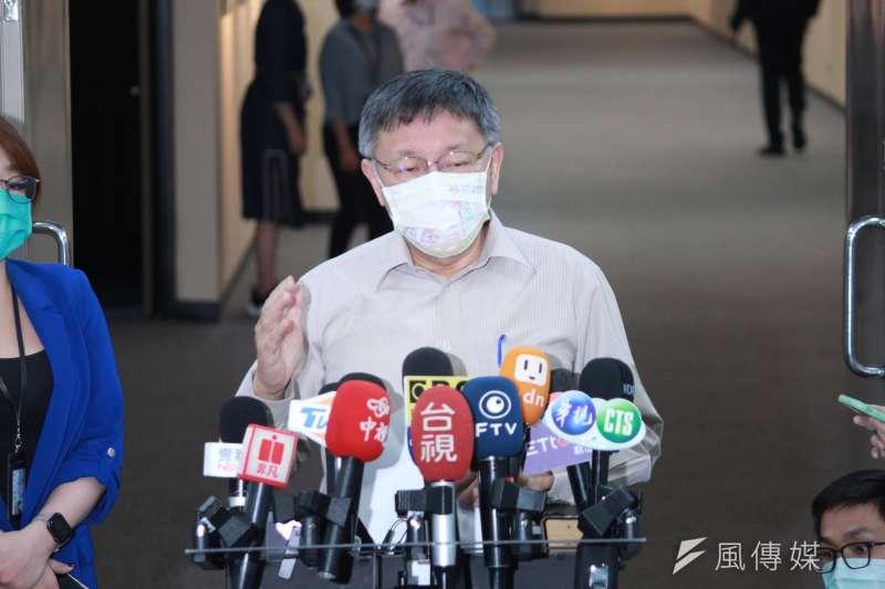 20210430-針對台北市警界爭議頻傳,台北市長柯文哲30日下午召開臨時記者會說明。(方炳超攝)