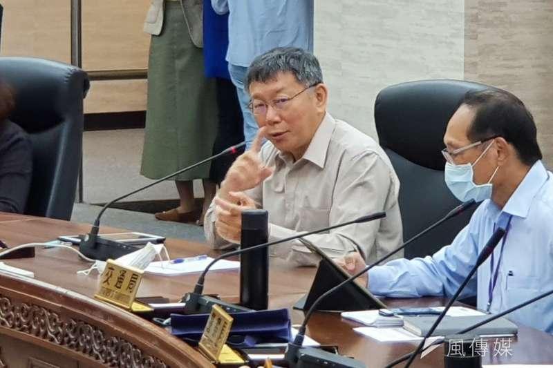 台北市長柯文哲1日上午受訪時,再度談及台北市警察局近日風波。(資料照,方炳超攝)